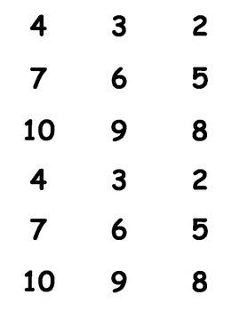 Adding Flash Cards (1-9)