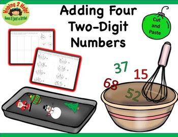 Addition with Four 2-Digit Numbers -