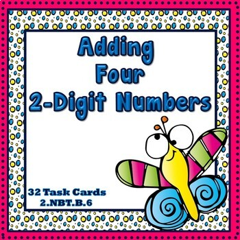 Adding Four 2-Digit Numbers  2.NBT.6