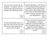 Adding Four 2-Digit Numbers Word Problems