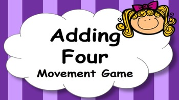 Adding Four Addition Facts Mental Maths Game, Brain Break or Maths Warm Up