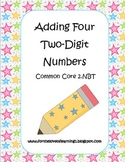 Adding Four Two-Digit Numbers