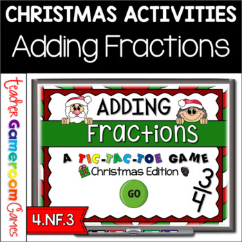 Adding Fractions Christmas PPT Game