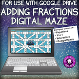 Adding Fractions Digital Maze for Google Drive