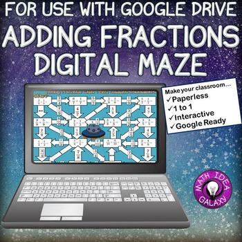 Adding Fractions Digital Maze for Google Drive