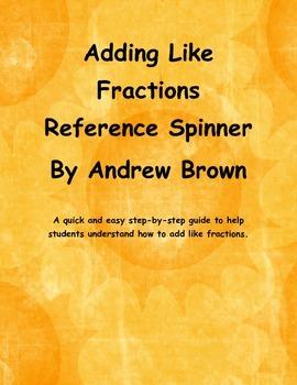Adding Fraction Spinner