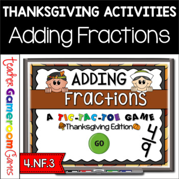Adding Fractions Thanksgiving PPT Game