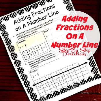 Adding Fraction Using a Number Line Interactive Notebook