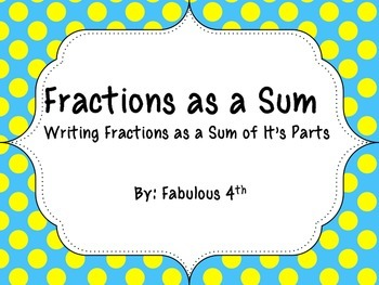Adding Fractional Parts