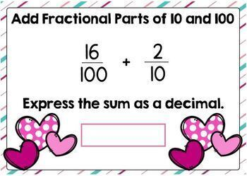 Adding Fractional Parts of 10 and 100 Digital Boom Cards
