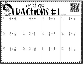 Adding Fractions with Unlike Denominators {a Problem of the Day Intervention}