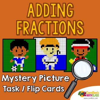 Adding Fractions with Unlike Denominators and Like Denom Mystery Pictures