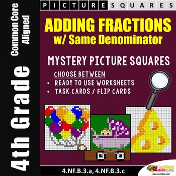 Adding Fractions With Like Denominators Mystery Pictures