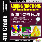 4th Grade Adding Fractions With Like Denominators Worksheets Mystery Pictures