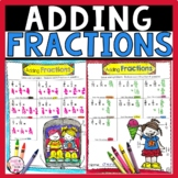 Adding Fractions with Unlike Denominators Fun Worksheet