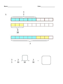 Fractions Worksheets, 4th Grade, 5th Grade - Adding Fractions