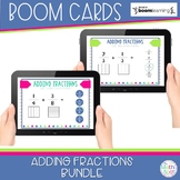 Adding Fractions BOOM Card Bundle | Distance Learning