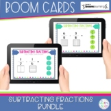 Subtracting Fractions BOOM Card Bundle | Distance Learning