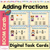Adding Fractions Boom Cards