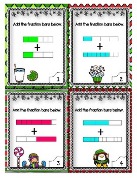 Adding Fractions Holiday Activity