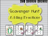 Adding Fractions - with Common Denominators Scavenger Hunt