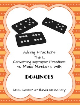 Adding Fractions-Converting Improper Fractions to Mixed Numbers