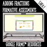 Adding Fractions DIGITAL TASK CARDS Google Classroom
