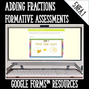 Adding Fractions DIGITAL TASK CARDS Google Classroom