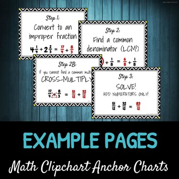 Step-by-Step Adding Fractions DIY CLIPCHART
