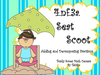 Adding Fractions Decomposing Fractions 4.nf.3a Seat Scoot