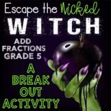 Adding Fractions Digital Escape Room Grades 5 Skills -- Di