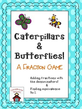 Adding Fractions Game - Like Denominators (Grades 2-4)
