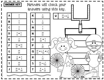 Adding and Subtracting Fractions Game: 5th Grade Fractions Math Game