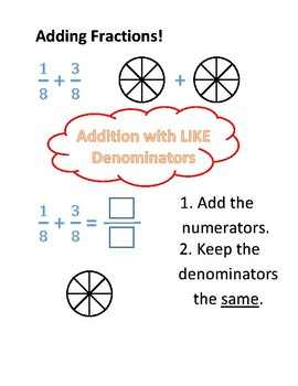Adding Fractions Guided Practice Worksheet
