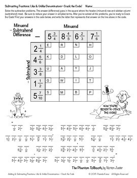 Adding & Subtracting Fractions: Like & Unlike Denominators ~ Crack the Code!