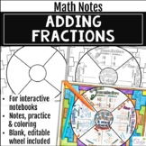 Adding Fractions Math Wheel