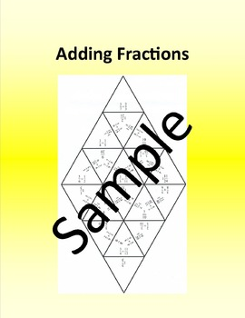 Adding Fractions – Math puzzle