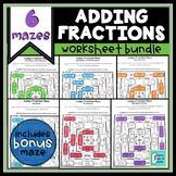 Adding Fractions Worksheet Bundle