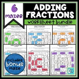 Adding Fractions Worksheet Bundle