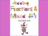 Adding Fractions & Mixed Numbers Color Sheet