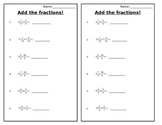 Adding Fractions Mixed Review Quiz