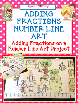 Adding Fractions Number Line Art Activity/Project