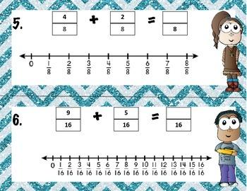 Adding Fractions- Number Line Model