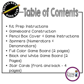 Adding Fractions - Pencil Box Game Kit