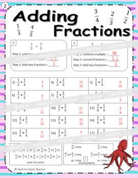 Adding Fractions - Practice Worksheets
