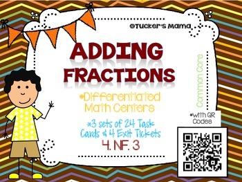 Adding Fractions QR Codes