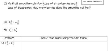 Adding Fractions Quiz