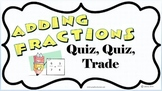 Kagan Adding Fractions Quiz Quiz Trade Cards Grade 5