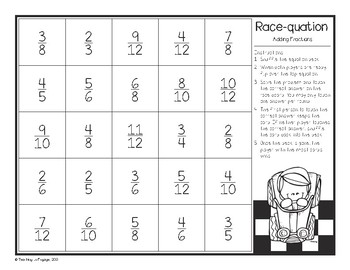 Adding Fractions Race-quation