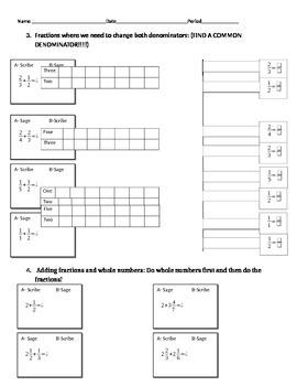 Adding Fractions Sage-N-Scribe